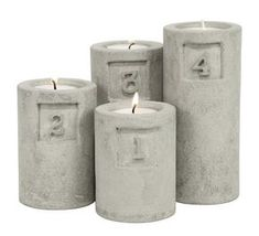 candle holders made out of concrete Cement Design, Cement Art, Cement Planters, Concrete Cement, Concrete Furniture, Concrete Crafts, Concrete Projects, Concrete Overlay, Concrete Candle Holders