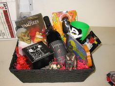 I gave out gift baskets and homemade ribbons last year.  I gave them out to:Best Costume, Most Original, Scariest, Sexiest, Best Couple, Most Authentic and Funniest.  I also made an extra basket and had a raffle.  Anyone who didn't win a prize got a raffle ticket and we picked a winner.  I also made a small bag of cd's and goodes for the best karaoke performance and the Best Costume winner got a gift basket and a bag full of pumpkin carving tools. I also gave out a pair of sungl