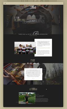 Team Les Chameaux - Website on Behance