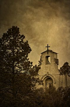 Morley Church by Priscilla Burgers Abandoned Churches, Old Churches, Sepia Color, Church Architecture, New Mexico, Home Art, Trinidad Colorado, Art Photography, Gold Rush