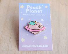 Juicy Peach Planet Hard Enamel Lapel Pin