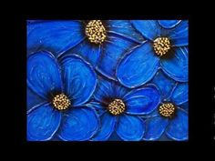 Blue flower oil painting  ..from Google Images
