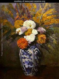 Dahlias - Paul Cezanne - www.paul-cezanne.org