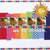 You are my sunshine layout
