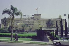 . This is the Ambassador Hotel in Los Angeles, seen June 1968, where Sen. Robert F. Kennedy was assassinated during his campaign for the presidency.  (AP Photo)
