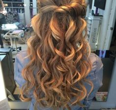 Hairstyles for Prom With Long Hair Half Up Half Down