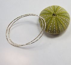 Oval Silver Bangles  Set of 2  Small Size by MalibuJewel on Etsy, $75.00