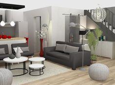 Aménagement et décoration d'une pièce à vivre d'un appartement.