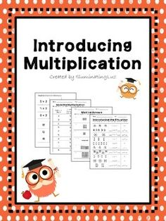 This packet includes worksheets to be used when first introducing multiplication to students. Students will practice making equal groups, making arrays, using repeated addition, and writing multiplication equations. All worksheets include a completely blank version, so that teachers can add different numbers for students who need extra practice, or more of a challenge.