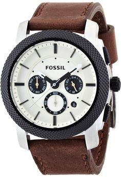 Fossil Men's FS4732 Machine Brown Leather Watch < $92.15 > Fossil Watch Men