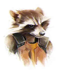 Rocket Raccoon fan art