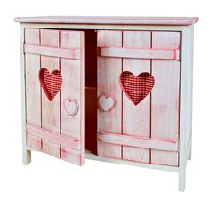 Armoire commode Shabby étagère Cœur Blanc Rose pour la salle de bain ou chambre d'enfants.: Amazon.fr: Cuisine & Maison
