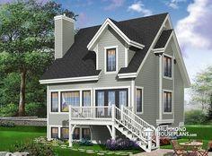 W3967 - Lakefront house plan, 4 bedrooms, open floor plans, large ...