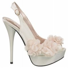 Ladies Glass Dress Ivory Wedding Shoes by Allure Bridals