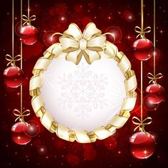 Luxurious Christmas New Year baubles vector background 04