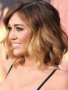 Ombre short hair I think I will do this ekk
