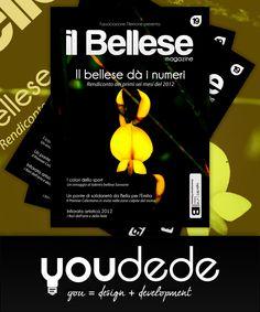 """Anteprima - Ideazione, Progettazione e Sviluppo della grafica di copertina e di impaginazione della rivista """"Il Bellese - Luglio 2012"""" (Bella - Associazione Filemone)"""