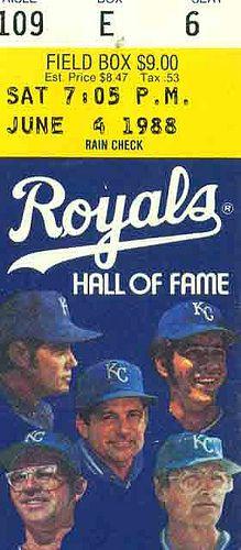 6-4-88,  Kansas City Royals Ticket Stub by Joe Merchant, via Flickr