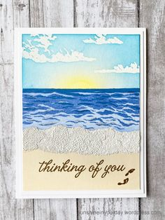 Hero Arts Layering Waves, with Sea and Sky | Sunshine In Your Day