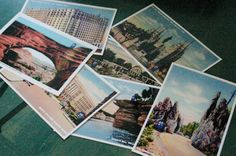 Set of 7 Postcards from the Dr  Dr Who themed by geekdetails, $30.00