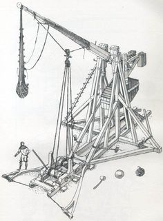Technology- the science or study of the practical or industrial arts; Roof Truss Design, Age Of Empires, Weapon Of Mass Destruction, Medieval Weapons, Concept Weapons, Knight Armor, Medieval Castle, Dark Ages, War Machine