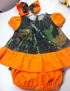 Camo Baby Dress Set on Etsy, $34.95
