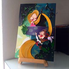 Rapunzel Paper art by Alberto Trujillo