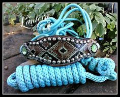 custom rope halter and lead