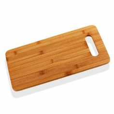 """Amazon.com: Bamboo Cutting Board 7.5"""" x 14"""" - With Handle - Eco-Friendly: Kitchen & Dining"""