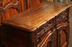 18th Century French Louis XV Carved Walnut Buffet from Provence 9