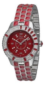 Christian Dior Women's CD11311HM001 Christal Diamond Red Dial Watch