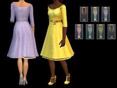 Mod The Sims - Long Hug Dress (default + custom)