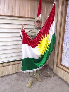 Pehmerga and Kurdish Flag♥ Bijî Kurd û Kurdistan....