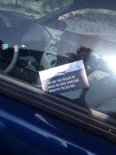 Punishing bad parking...