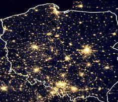 Polska nocą ( Fot. NASA )