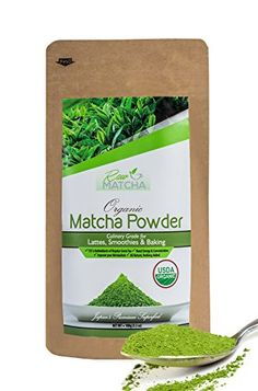 Matcha Green Tea Powder Organic - Premium Blend of Culinary & Ceremonial - Includes Recipe eBook - Ideal for Tea or Use in Lattes, Smoothies and Baking 3.5oz (100g) >>> Check out the image by visiting the link.