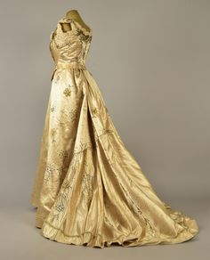 Gustave Beer ball gown ca. 1898  From Whitaker Auctions