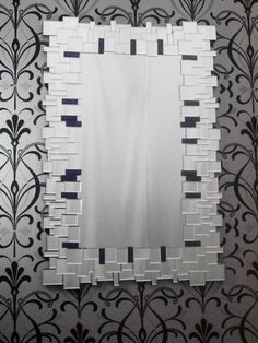 ava purple art deco large modern glass wall mirror click to buy - Large Designer Wall Mirrors