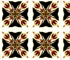 Delta black fabric by nascustomwallcoverings on Spoonflower - custom fabric