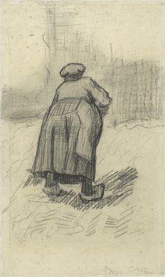 Peasant Woman Lifting Potatoes Nuenen, May - June 1885 Vincent van Gogh (1853 - 1890) chalk on paper, 32.9 cm x 19.7 cm Van Gogh Museum, Amsterdam.