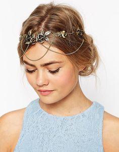 Bild 1 von ASOS – Haarkrone mit Rosen und Kämmen