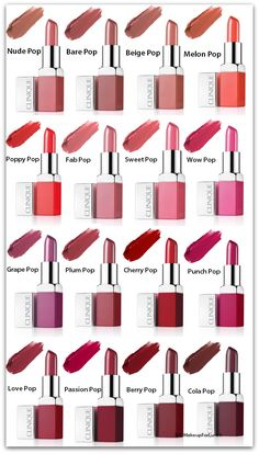 "A new beauty news blog post just went up on my blog MakeupForLunch with all you need to know about the new line of colourful lipsticks by Clinique cosmetics ""CLINIQUE Clinique Pop Lip Colour"" with so many lip swatches (from their official website) and a chart with the shades and their names on it. - Reem Noobo"