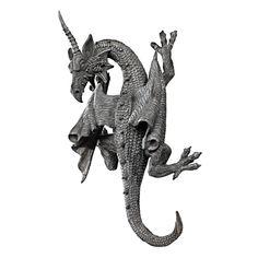 Design Toscano Horned Dragon of Devonshire Wall Sculpture: Patio, Lawn & Garden