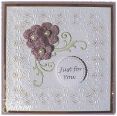 Just for You Stitched Card