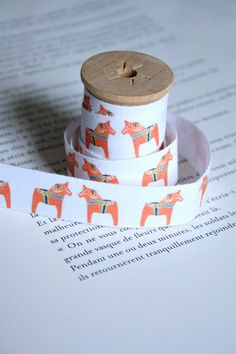 Dala cotton tape by lillalotta on Etsy, $4.95. This seller has lots of wonderful festive cotton tape patterns.