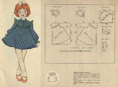 Vintage Patterns - Journal of Applied Arts Kids Dress Patterns, Baby Clothes Patterns, Clothing Patterns, Vintage Girls Dresses, Little Girl Dresses, Vintage Patterns, Vintage Sewing, Pattern Drafting, Baby Sewing