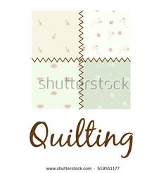 Quilting vector logo illustration