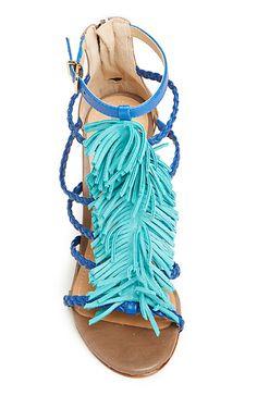 Schutz fringe heels