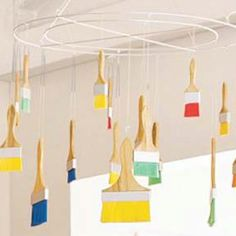 Make your own paintbrush mobile