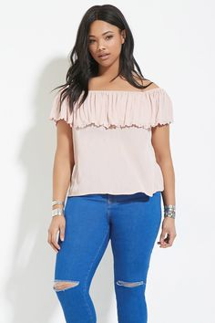 Plus Size Off-The-Shoulder Top   Forever 21 PLUS - 2000168170